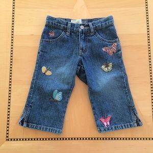 Gap Girl's Capri Jeans Embroidered